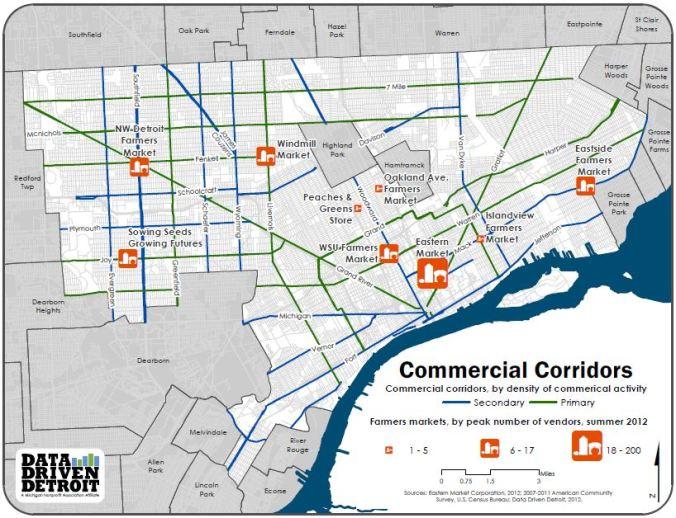 Commercial corridors Data Driven Detroit